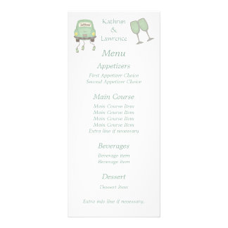 Just Married Personalized Wedding Menu