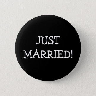Just Married Pinback Button