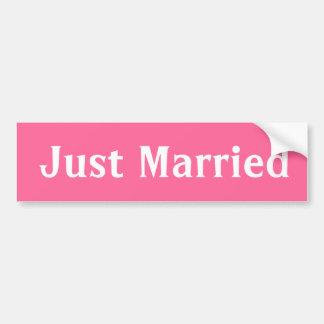 Just married pink  bumper sticker. bumper sticker