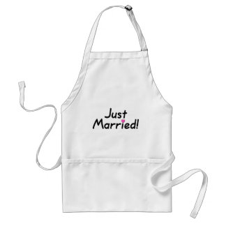 Just Married (Pink Hrt) Adult Apron