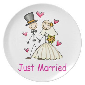 Just Married Dinner Plate