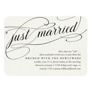 Just Married | Post Wedding Brunch Invitation