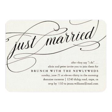 RedwoodAndVine Just Married   Post Wedding Brunch Invitation