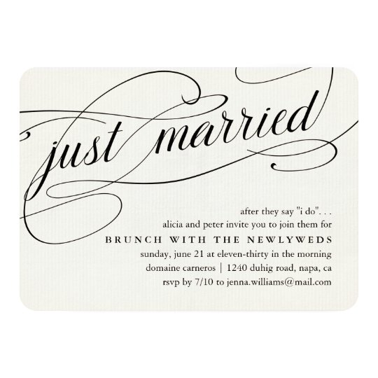 Just Married | Post Wedding Brunch Invitation