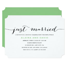 Incroyable Just Married Post Wedding Brunch Invitation ...