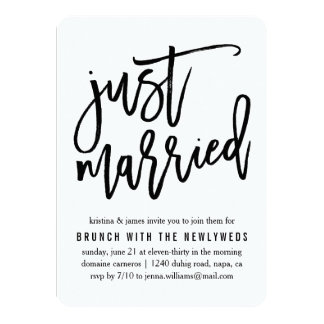 Just Married Invitations & Announcements | Zazzle