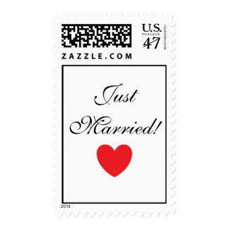 """""""Just Married!"""" Postage"""