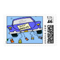 Just Married Postage Stamp stamp