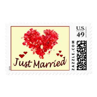 """""""Just Married"""" Postage Stamps"""