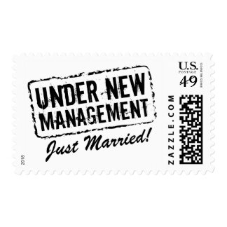 Just Married postage stamps | Under new management