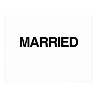 (Just) MARRIED Postcard