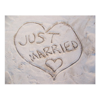 Just Married Postcard