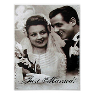"""Just Married"" Poster"