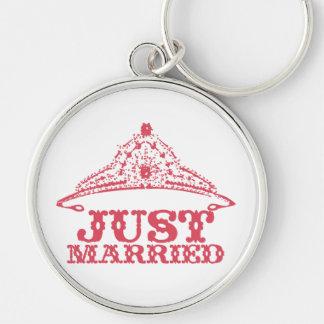 Just Married Princess Bride Tiara Weddings Keychain