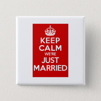 Just Married Red Button