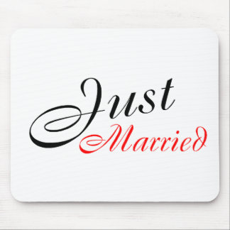 Just Married (Red) Mouse Pad