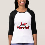 Just Married (Red) Tee Shirt