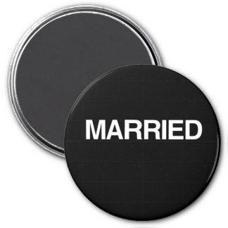 (Just) MARRIED Refrigerator Magnet