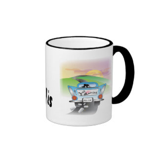 Just Married Ringer Coffee Mug