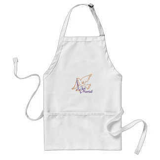 Just Married Rings Adult Apron