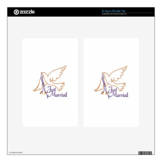 Just Married Rings Kindle Fire Skin