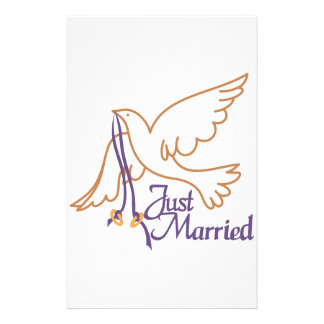 Just Married Rings Stationery