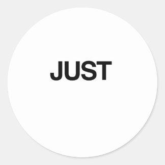 JUST (Married) Round Sticker