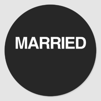 (Just) MARRIED Round Stickers
