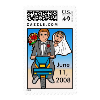 Just Married Scooter Postage