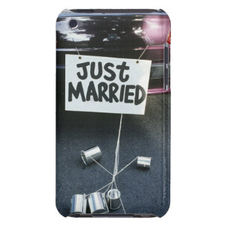 Just Married sign on back of car iPod Touch Cover