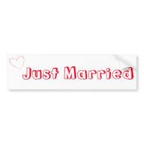Just Married Simple Bumper Sticker
