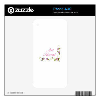 JUST MARRIED iPhone 4 SKINS