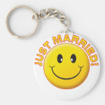 Just Married Smile Key Chain