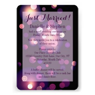 Just Married Spots and Hearts Announcement