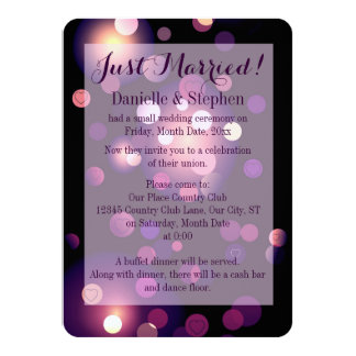 Just Married Spots and Hearts Invitation
