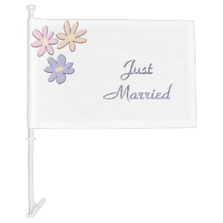 Just Married Spring Car Flag