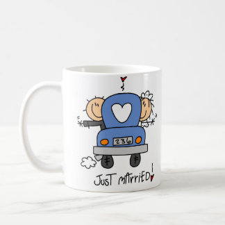 Just Married Stick Figure Wedding Mug/Cup Coffee Mug