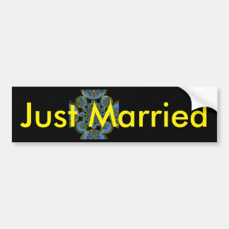 Just Married Sticker Template Car Bumper Sticker