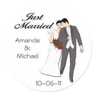 Just Married stickers sticker
