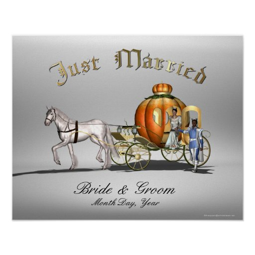 Just Married - Storybook - Sign Poster