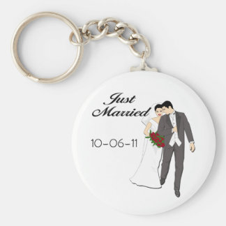 Just Married T-shirts and Keepsakes Keychain