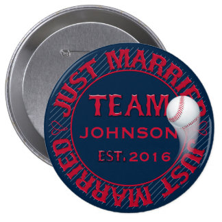 Just Married Team 01-CUSTOMIZED Button Pin