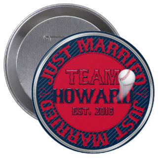 Just Married Team Howard 01-CUSTOMIZED Button Pin
