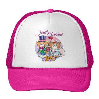 Just Married Teddy Bear Wedding Couple Trucker Hat