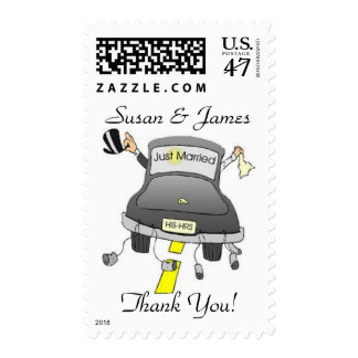 Just Married Thank You! Postage Stamp