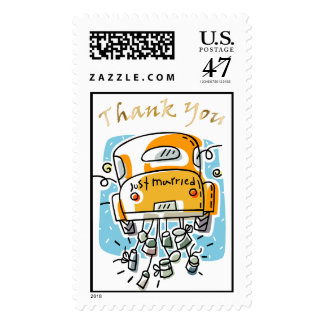 Just Married Thank You Stamp (2B)