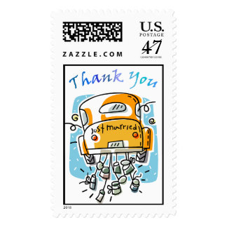 Just Married Thank You Stamp (2C)