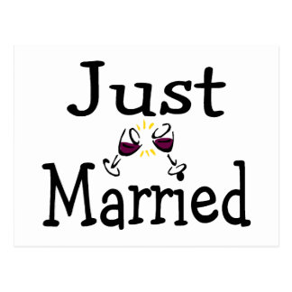 Just Married Toast Postcard