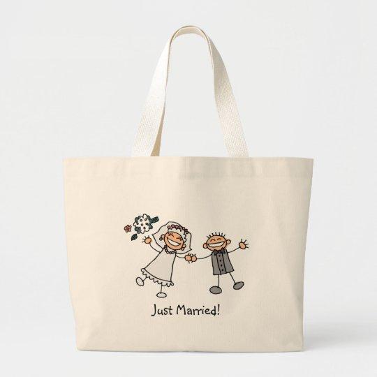 Just Married totebag Large Tote Bag