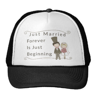 Just Married Trucker Hat